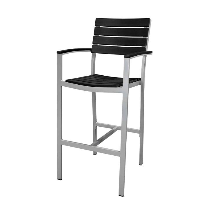 Source Furniture Vienna Bar Arm Chair - Black
