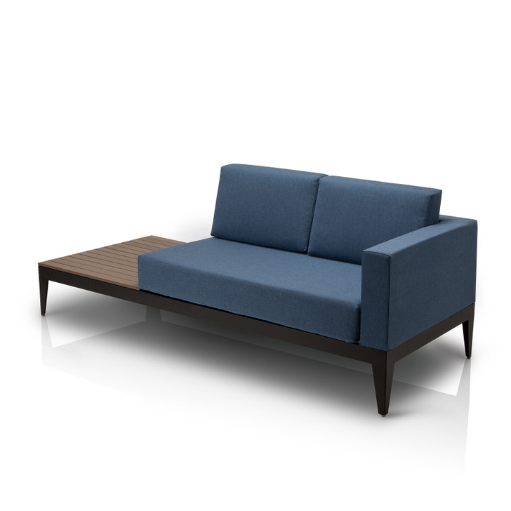 Source Furniture SoBe Loveseat Right-Arm w/ Built-in Side Table