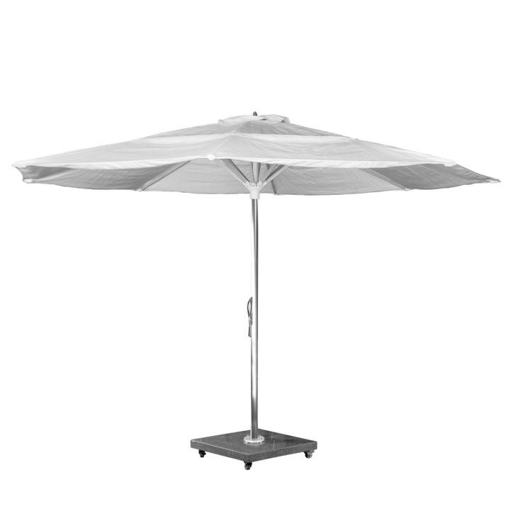 Source Furniture The Grand 13' Center Pole Umbrella - Mirror Anodized Frame