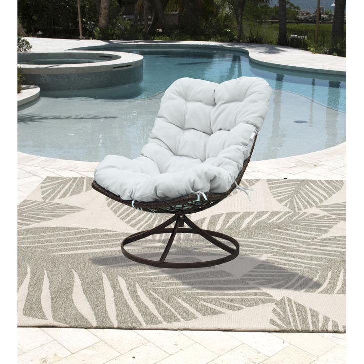 Panama Jack Outdoor Swivel Chair with Cushion