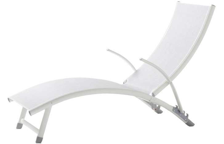 Alfresco Home Poolside Stackable Foldable Chaise Lounge