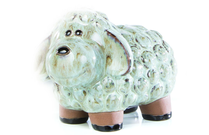 Alfresco Home Small Ceramic Lamb - Ash Grey