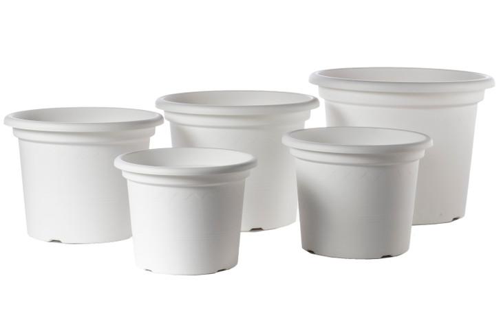 "Alfresco Home 19.5"" Geo Planter - Shiny White"