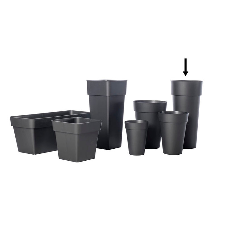 Alfresco Home Duo Pot w/ Container - Anthracite Grey