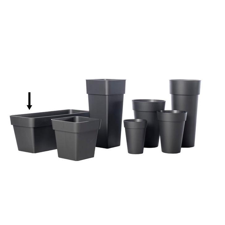 "Alfresco Home 39.5"" Mitu Pac Plant Box - Anthracite Grey"
