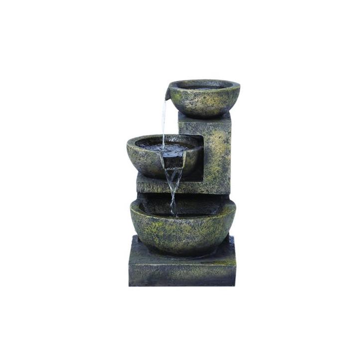 Alfresco Home Rocca Resin Fountain w/ Light & Pump