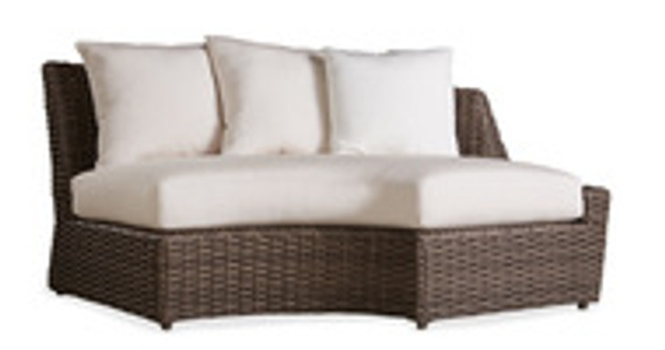Replacement Cushions for Lloyd Flanders Largo Wicker Left Arm Curved Sofa