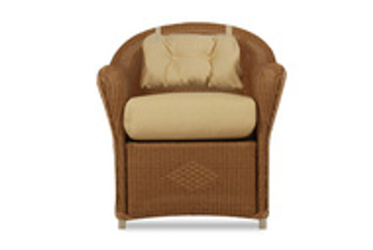 Replacement Cushions for Lloyd Flanders Reflections Wicker Dining Arm Chair With Back Pad