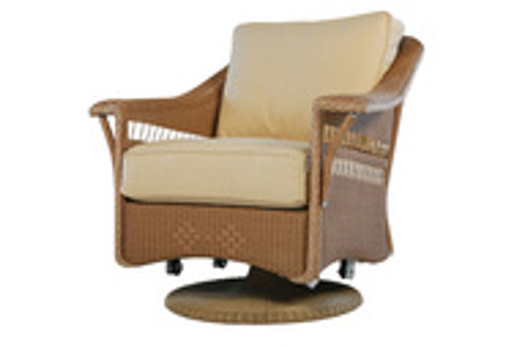 Replacement Cushions for Lloyd Flanders Nantucket Wicker Swivel Glider Lounge Chair