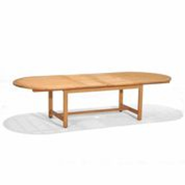 """Forever Patio Universal Teak 87"""" Extension Dining Table"""