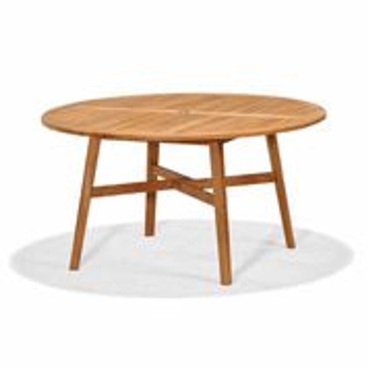 """Forever Patio Universal Teak 55"""" Round Dining Table"""