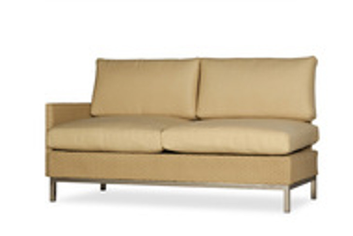 Replacement Cushions for Lloyd Flanders Elements Wicker Right Arm Settee with Loom Arms