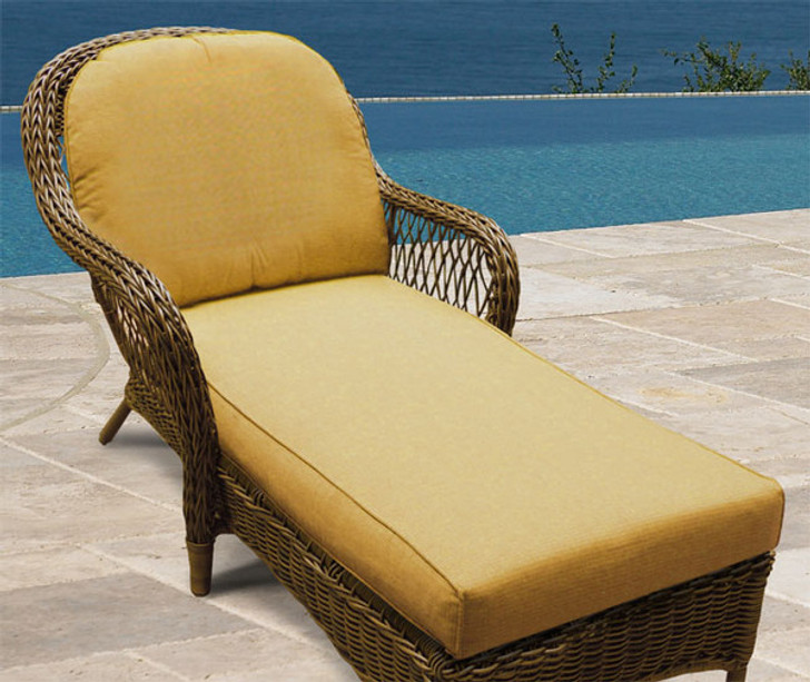 Replacement Cushions for NorthCape International Wicker Deep Seating Chaise Lounge