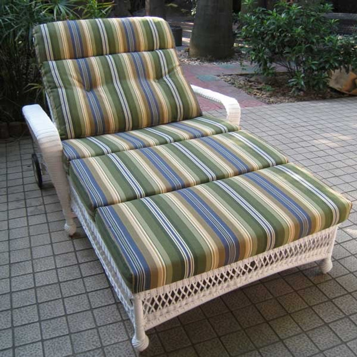 Replacement Cushions for NorthCape International Wicker Deep Seating Double Chaise Lounge