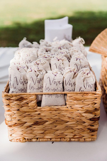 MarnaMaria Spices and Herbs Lavender Wedding Toss Sachets Set of 15