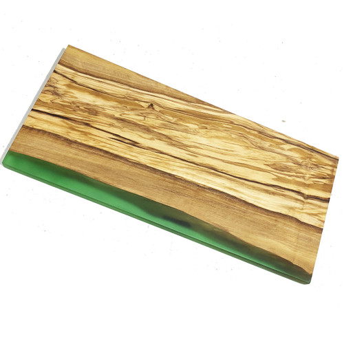 MarnaMaria Spices and Herbs Olive Wood Cutting Board with Resin Edge