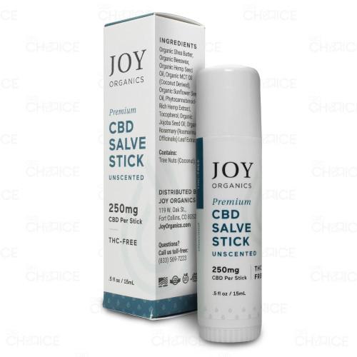 Joy Organics Premium Unscented CBD Salve Stick 0.5oz
