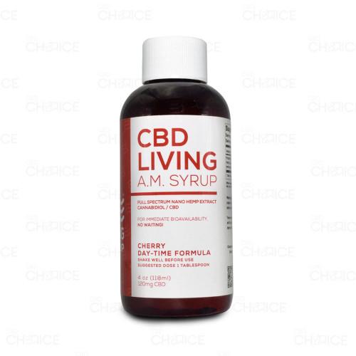 CBD Living Cherry AM Syrup Day-Time Formula 4oz