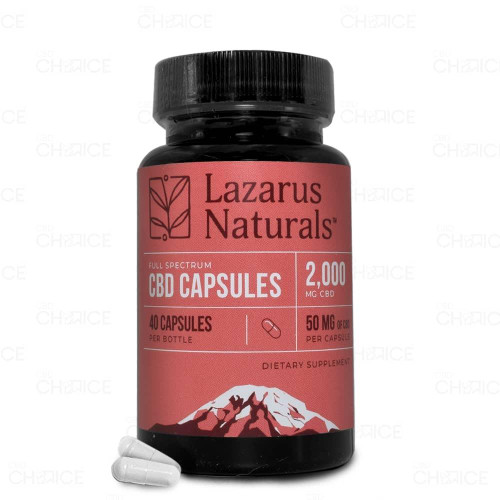 Lazarus Naturals Lazarus Naturals or Full Spectrum CBD Capsules 10-200 count