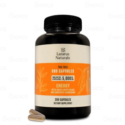 Lazarus Naturals THC-Free Energy Blend CBD Capsules 200-count