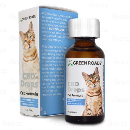 Green Roads CBD Drops for Cats 30ml, 60mg