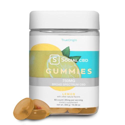 Social CBD or Lemon Broad Spectrum Gummies 60 count-1631847549