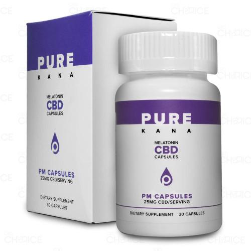 PureKana PM CBD Capsules with Melatonin 30 count