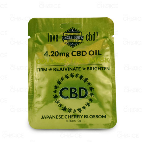 Uncle Buds CBD Collagen Face Mask 6 count