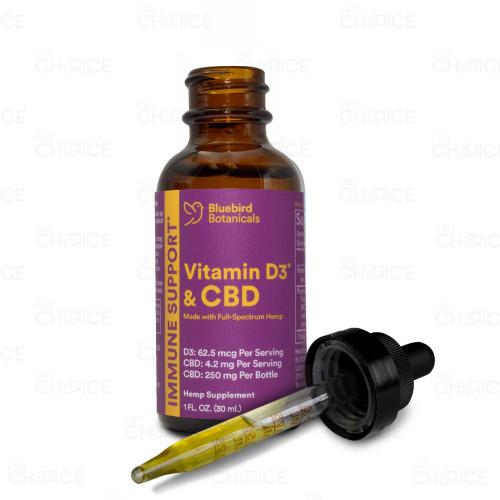 Bluebird Botanicals Immune Support CBD Oil with Vitamin D3 30ml