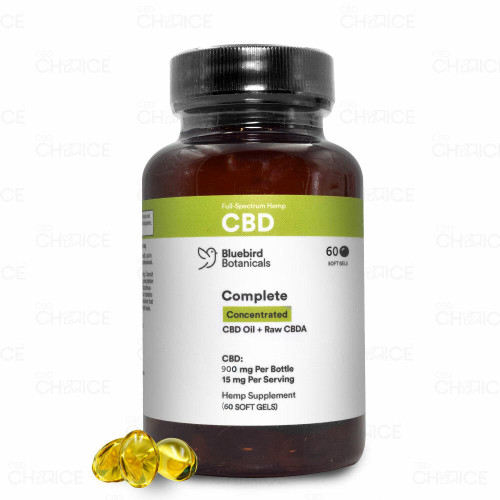 Bluebird Botanicals Bluebird Botanicals or Complete Concentrated CBD Capsules 30 or 60 count