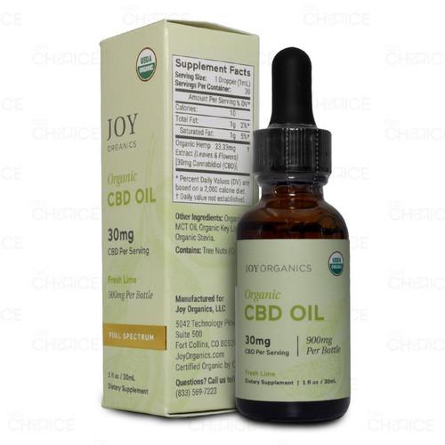 Joy Organics Fresh Lime Organic CBD Oil 30ml