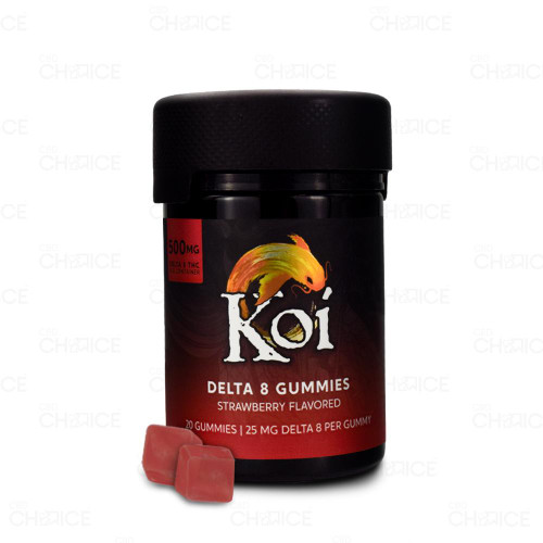 Koi Delta 8 Strawberry Gummies 20-count