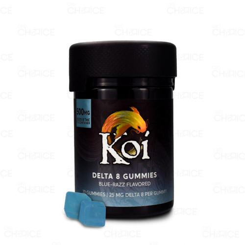 Koi Delta 8 Blue Razz Gummies 20-count