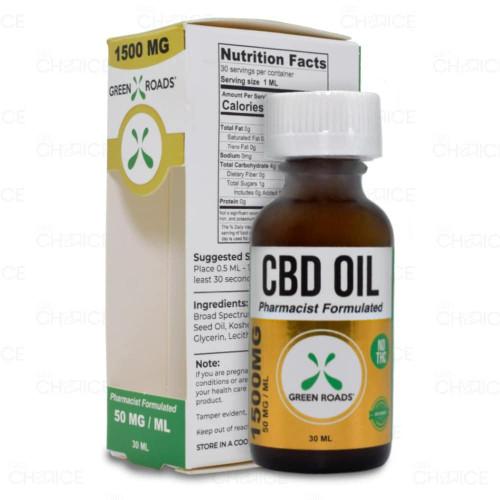 Green Roads THC-Free CBD Oil 30ml, 1500mg
