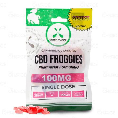 Green Roads Gummy CBD Sour Froggies  4 count, 100mg