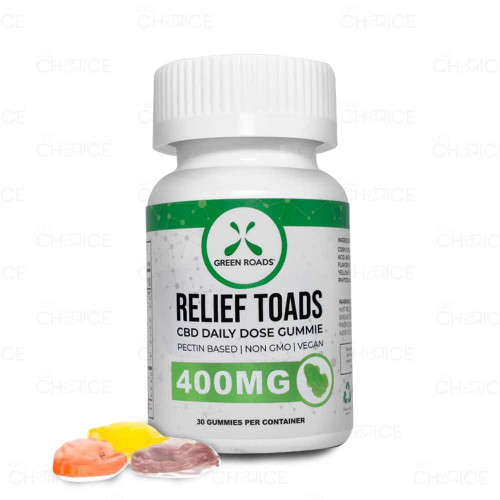 Green Roads Gummy CBD Relief Toads 40 count, 400mg