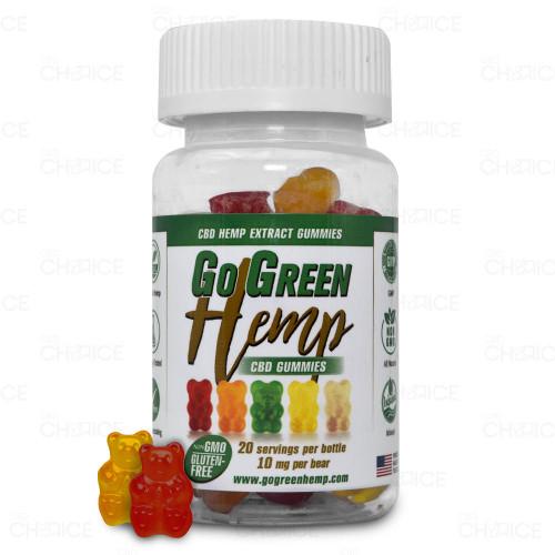 GoGreen Hemp CBD Gummy Bears 20 count