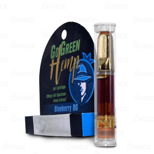 GoGreen Hemp Vape Cartridge Blueberry OG Flavor 1ml