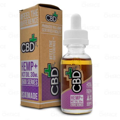 A bottle of CBDfx CBD Oil 30ml, 1500mg