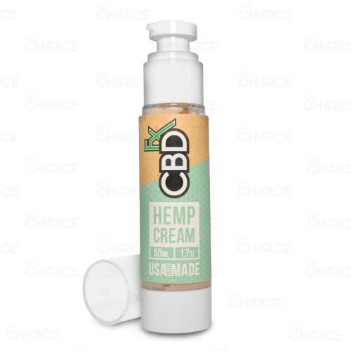 A bottle of CBDfx Hemp Cream Lotion, 50ml