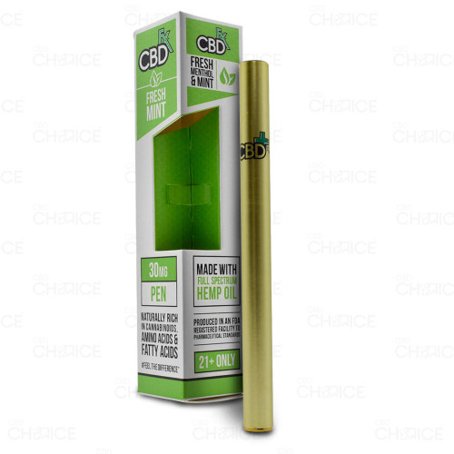 A CBDfx Fresh Mint CBD Vape Pen, 30mg