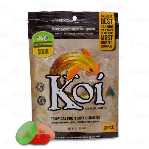 Koi CBD Tropical Fruit Sour Gummies 20-count