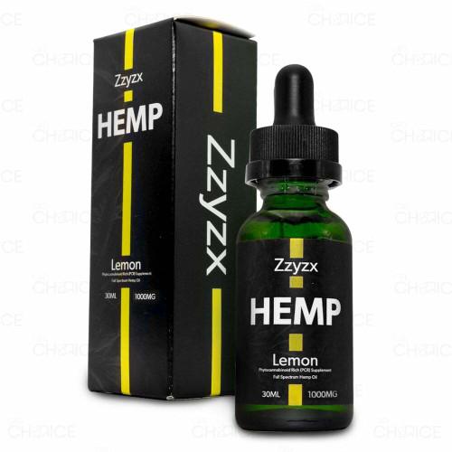 Zzyzx Lemon CBD Hemp Oil 30ml, 1000mg