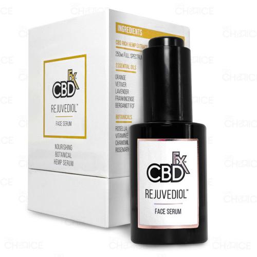 A bottle of CBDfx Rejuvediol CBD Face Serum, 30ml