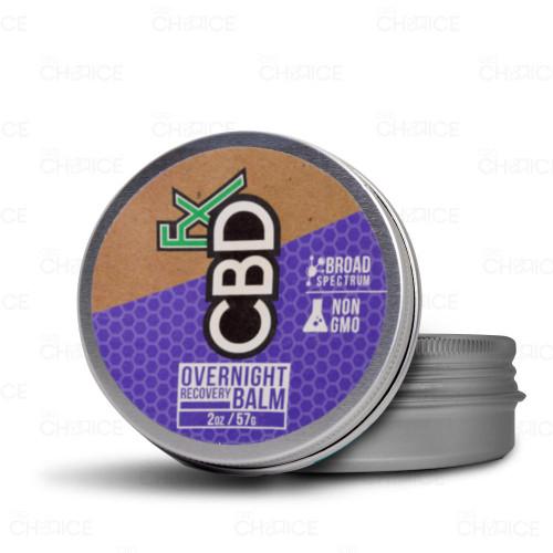 A tin of CBDfx Overnight Recovery Balm 2oz