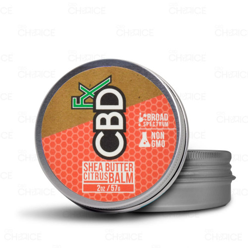 A tin of CBDfx Shea Butter Citrus Balm, 2oz