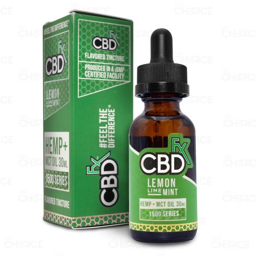 CBDfx Lemon Lime Mint CBD Oil, 30ml 1500mg