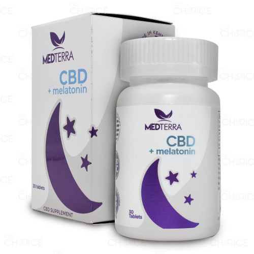 Medterra Melatonin CBD Dissolvable Sleep Tablets 30 count