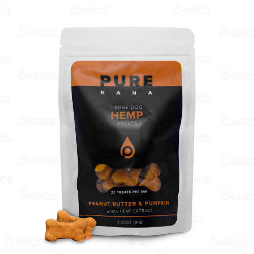 PureKana Peanut Butter and Pumpkin CBD Dog Treats 50mg