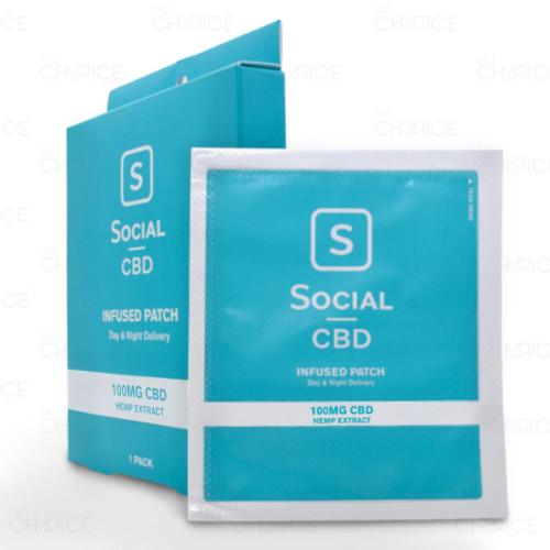 Social CBD CBD Infused Patch 1 pack, 100mg